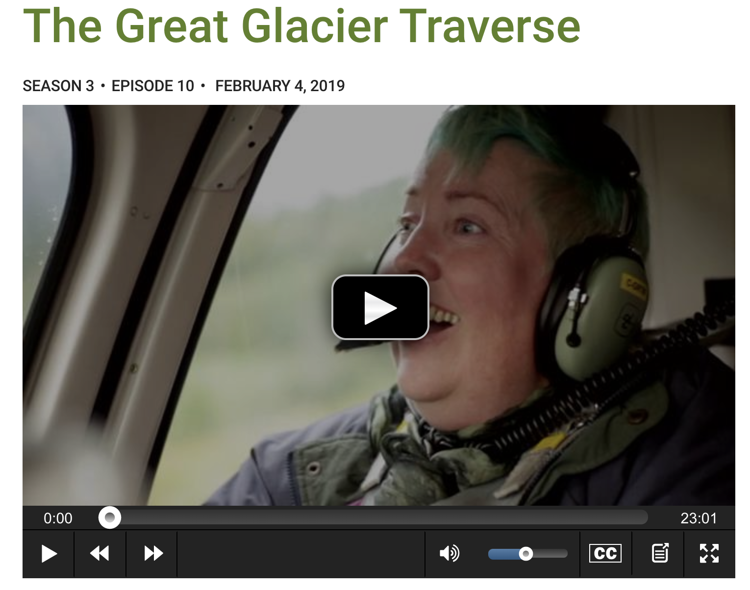 The Great Glacier Traverse